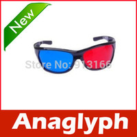 Wholesale Dvd Movie Wholesalers - Wholesale-1 Pair Red Blue 3D Glasses For Dimensional Anaglyph Movie DVD Game
