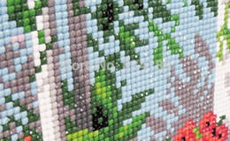 Wholesale House Free Cross Stitch - Wholesale-Free shipping needlework 50X40CM Diy diamond painting kit 3D Diamond cross stitch plants embroidery house small boat and trees