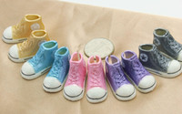 Wholesale Blythe Doll Shoes - Wholesale-Free Shipping 5pairs lot Mixed Colors 3.5cm Doll Sneaker Shoes 1 6 Scale for Blythe Dolls,BJD Doll Accessories Fashion Shoes