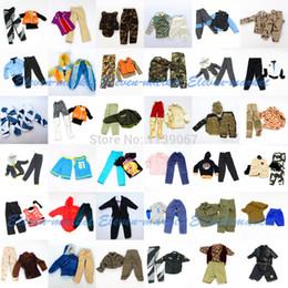 Wholesale Doll Clothes For Barbies - Wholesale-Hot 5 sets Doll Outfit Plug Suit   Ball Uniform   army combat uniform   Leasure Wear Clothes Accessories For Barbie Boy Ken Doll