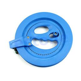 """Wholesale Reel Parts - Wholesale-M112""""6.1Inch Grip Wheel Kite Reel Winder Ballbearing Handle Lockable 120M String Line"""