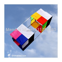 Wholesale Delta Wing - Wholesale-FREE SHIPPING High Quality 3D Box Kite   Single Line Delta Kites   Outdoors Sports   Toys   Kids Play  Easy to Fly