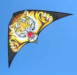 Wholesale Kites Free Shipping - Wholesale-1piece cheap tiger kite single line kites flying Triangle kite hot sale kite free shipping