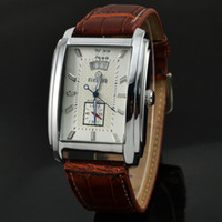 Wholesale Goer Watch Automatic - Wholesale-GOER Brand Elegant Automatic Mechanical Auto Date Dress Wrist Watches Men Luxury Montres Homme Rectangle Chronograph Watches