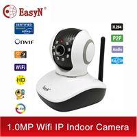 Wholesale Cam Wifi Easyn - Wholesale-EasyN wi-fi wi fi security HD video camaras P2P IP camera wifi wireless ipcam TF 720P nanny cam cctv ptz pan tilt IPC