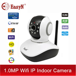 Wholesale Easyn Ptz - Wholesale-EasyN wi-fi wi fi security HD video camaras P2P IP camera wifi wireless ipcam TF 720P nanny cam cctv ptz pan tilt IPC