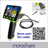 "Wholesale Endoscope Lcd 9mm - Wholesale-Wireless 3.5"" LCD Monitor 9mm Diameter 5M Waterproof Inspection Scope Borescope Endoscope Video Endoscopic Camera Snake Pipe"