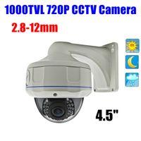 "Wholesale Vandalproof Ir Color Camera - Wholesale-4.5"" Outdoor Vandalproof color IR Nightvision 1000 TVL 720p HD Dome cctv camera OSD"
