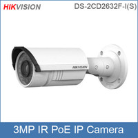 Wholesale-Hikvision IP-Kamera DS-2CD2632F-I 6mm (4,8,12mm optional) 3MP 1080P HD Netzwerkkamera Infrarot-CCTV-Kamera POE IP66