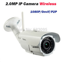 Cámara De Seguridad Varifocal Resistente A La Intemperie Baratos-Varifocal de 2MP IP 1080p Cámara CCTV HD ip exterior leva IR impermeable infrarroja ONVIF video de seguridad wifi web bala inalámbrica IPC