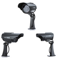 Powered falsa Videocamera di sicurezza fittizia Wholesale-intemperie coperta esterna solare con flash LED