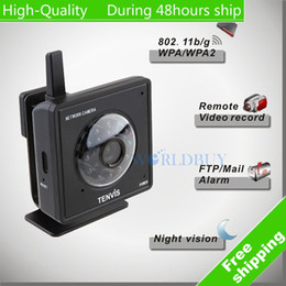 Wholesale Security Camera Tenvis - Wholesale-High Quality Tenvis Mini319W Wireless IP Camera WiFi CMOS CCTV Security System monitor Black Free Shipping DHL HKPAM CPAM KU-13