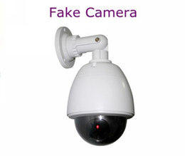 Wholesale Decoy Dvr Cctv Security - Wholesale-Cheapest Fake Decoy Dummy Weather proof Outside Security CCTV DVR for Home Camera with Red Blinking LED Free Shipping