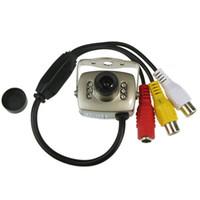 camara de video roja al por mayor-Venta al por mayor-2015 Nueva mini cámara de red inalámbrica pequeña Video Audio Color Video de seguridad para mejor
