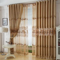 Wholesale Textile Curtain - Wholesale-Sheer Curtains New for Living Room Cortina 2015 Hot Sale Fashion Luxury Home Textile Quality Curtain Shade Cloth free Shipping