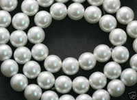 Wholesale China yiwu commodity white glass pearl beads mm