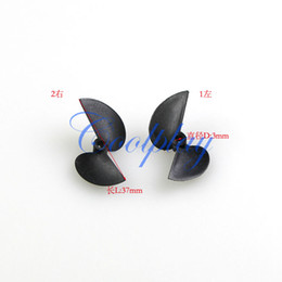 Wholesale Wholesale Boat Propellers - Free Shipping In Stock 5sets Lots=10pcs Propeller spare parts for Henglong rc speed boat 3727 3837 3857