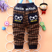 Wholesale Cool Jeans For Kids - 2015 new kids cool and fashion pants cartoon style children jeans popular baby jeans for boys casual pants J024
