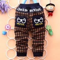 vaqueros de moda para bebés al por mayor-2015 nuevos niños geniales y de moda pantalones de estilo de dibujos animados para niños jeans populares para bebés pantalones casuales J024