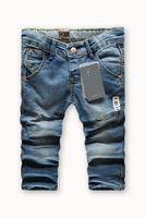 Wholesale Child Slant - Girl's clothes fashion cool denim kids jeans slant and vertical pocket children Clothing long pants for 2-10 years kids bottoms