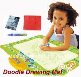 Wholesale Water Playmat - Wholesale-Safety Musical Children Drawing Mat with Water Pen Playmat Educational Learning Toy Doodle Mat, Free Shipping