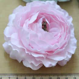 "Wholesale Ruffle Ranunculus Flowers - 100pcs lot, 4"" Ruffle Ranunculus flowers Cute for baby accessories mixed colors,BF022"