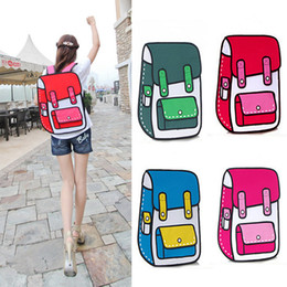 Wholesale Gismo Style - Wholesale-Fashion 2D 3D Canvas Bag Comic Gismo Cartoons Bag Camera Backpack Women Men Unisex Shoulder General Bags