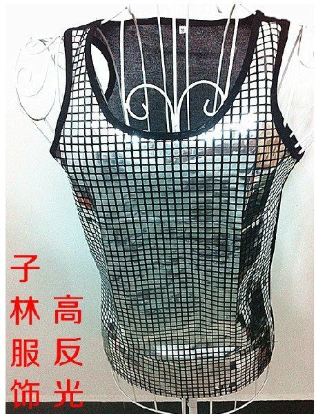 Оптовая продажа-Бесплатная доставка!!! новая мода Дэнни все Матч мужская одежда ds блестка тонкий жилет костюм прилив этап жилеты
