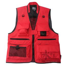 Оптовая продажа-мужчины и женщины завод прямые multi-карман сетки жилет рыбалка жилет рыбалка жилет одежда рыбалка жилет фотографии от
