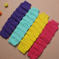 Wholesale Colorful Leggings For Kids - free sizes for 0~8 years toddlers kids children colorful solid warm leg warmer baby candy color leggings freeship