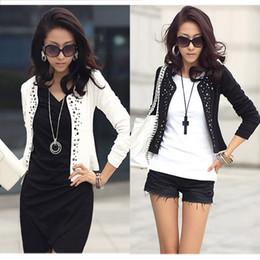 Wholesale Ladies Leisure Shorts - Cozy women clothes Shawl Coat Comfortable leisure slim Wild suit Ms. jacket lady black white WF-667