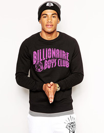 Wholesale Rocky Hoodie - Wholesale-BILLIONAIRE BOYS CLUB 100% COTTON GRAPHIC MENS T-Shirts SWEATSHIRTS PYERX PLAYER ASAP Rocky pigalle yeezus Hoodies TEE