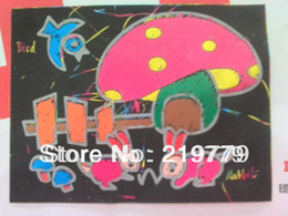 Wholesale Magic Color Scratch Paper - 19*26cm A4 size Magic Color Scratch Art Picture DIY Scratching Painting Cards Scraping Drawing Paper children's educational toy