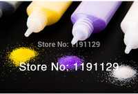 Wholesale Wholsale Material - 12 bottles color sand for sand painting sand art different colors sand mixed for educational toys materials big stock wholsale