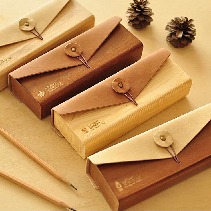 ... Cute Pencil Case Wood Lace Hollow Wooden Pencil Case Pencil Box  Students Office School Supplies Fashion ...