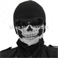 Wholesale Snowboard Scarf Mask - Wholesale-NEW Skull Face Mask Scull Scarf Ployester Bandana Motorcycle Snowboards Multifunction headband decoration