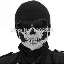 Wholesale Snowboard Scarf - Wholesale-NEW Skull Face Mask Scull Scarf Ployester Bandana Motorcycle Snowboards Multifunction headband decoration