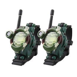 Wholesale Pair Watch Walkie Talkie - A pair of 2 pcs multifunction two way Walkie Talkie with Magnifier and LCD digital watch Compass Toys For Kids Christmas Gift
