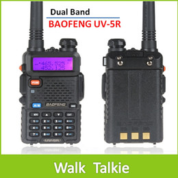 Wholesale Vhf Radio Sales - Sale 2 piece BaoFeng UV5R Dual Band VHF 136-174MHz   UHF 400-480MHz 5W 128CH Walkie Talkie 2 Way radio with LCD Display