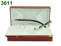 Wholesale Top Brand Eyeglasses Wholesale - 6pcs brand rimless glasses frames eyeglass frame new in box tags booklet wholesale price top quality