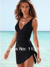 Canada Nouvelle arrivée !! 2015 minceur One Pieces maillot de bain costume Cover-Ups, sexy femmes Beachwear, noir maillot de bain couvrir, taille M L XL XXL Offre