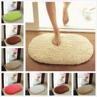 Wholesale Absorbent Doormat - Plush Velvet Slip Mats And Dust Doormat Absorbent Bathroom Floor Rug Washable Can Be Cleaned Bath Bathroom Floor Rugs 60 * 40cm