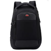Wholesale Black Army Swiss - Wholesale-2015 New Men's Travel Bags Swiss Army Knife Double Shoulder Bag Unisex Business Backpack 14   15.6-inch Laptop Bag