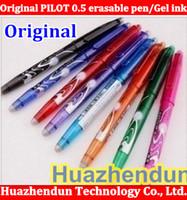 Wholesale Pilot Erasable - Wholesale-Original High Quality 12pcs lot Hot sale 100% Original PILOT 0.5mm erasable pen Gel ink pen, many color choose