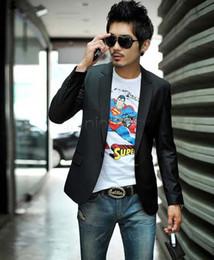 Wholesale Casual Slim Fit Business Suits - Mens fashion Business Blazer slim fit Jacket casual Suits Blazers Coat Button suit men Formal suit jacket Wholesale 38