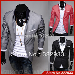 Wholesale Top Mens Suits Brands - Free Shipping 2015 New Fashion Men Blazers,Top Brand Mens Suits,Casual blazer Jackets,Men's Coat,M-XXL, Wholesale and retail