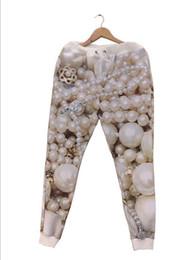Wholesale-2015 Winter New Fashion Men Frauen Perlenschmuck Diamant Jogger Hosen 3D-Druck Trainingshose Herbst Winter Jogging Jogginghose von Fabrikanten