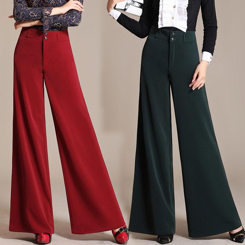 0a2ab32c4aa7 2019 Wholesale Autumn Women'S Wide Leg Dress Pants Loose Trousers Baggy  High Waist Culottes Formal Pants Women Bloomers Calca Social Feminina From  Odelettu, ...