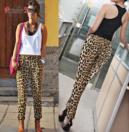 Wholesale Leopard Harem Lady - Wholesale-Fashion Casual Loose Fit Leopard Print Women Harem Pants Lady Trousers Plus Size S M L XL XXL 2015 12