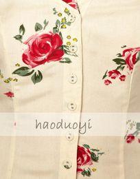 Wholesale Black Jumpsuit Boot Cut - Wholesale-Vintage rose print cutout V-neck back strip slim waist lacing haoduoyi jumpsuit black 2015 new fashion beautiful dress summer